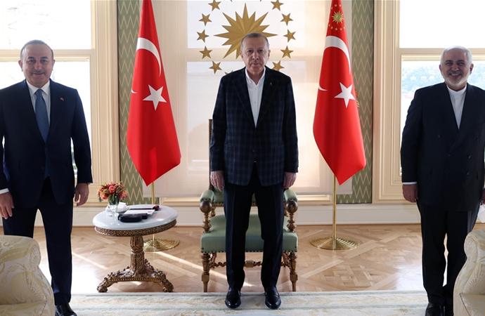 Erdoğan, Cevad Zarif'i kabul etti