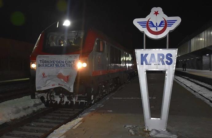 Türkiye'den Çin'e giden ihracat treni Kars'tan çıktı
