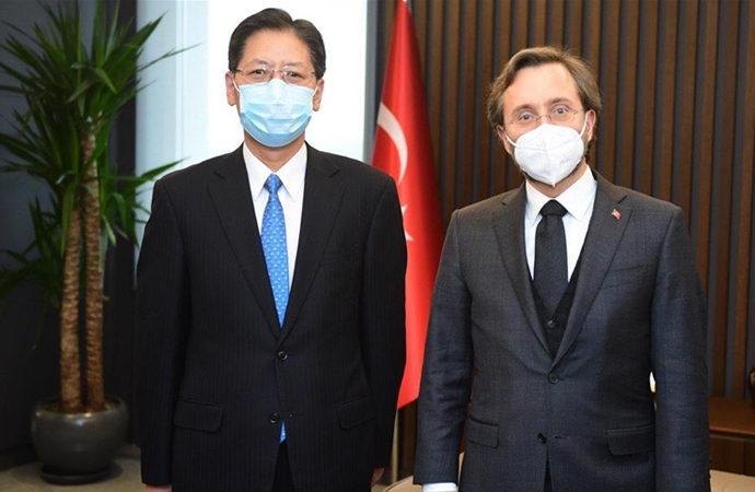 Fahrettin Altun, Çin Büyükelçisi ile görüştü