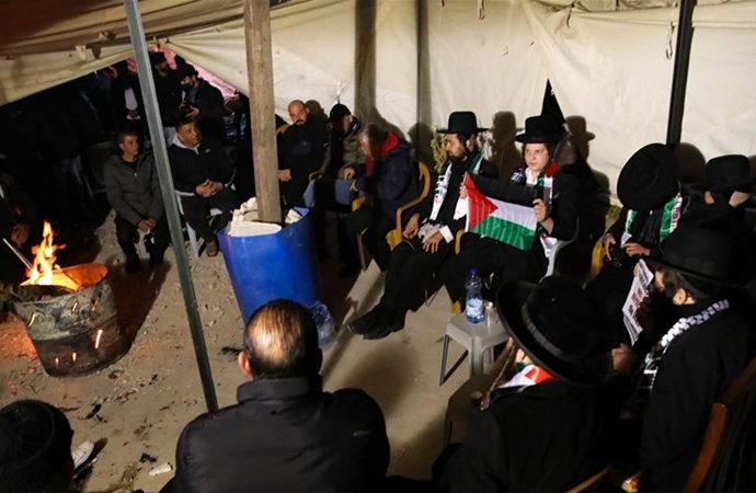 Ortodoks Yahudi grup Filistinli aileyi ziyaret etti