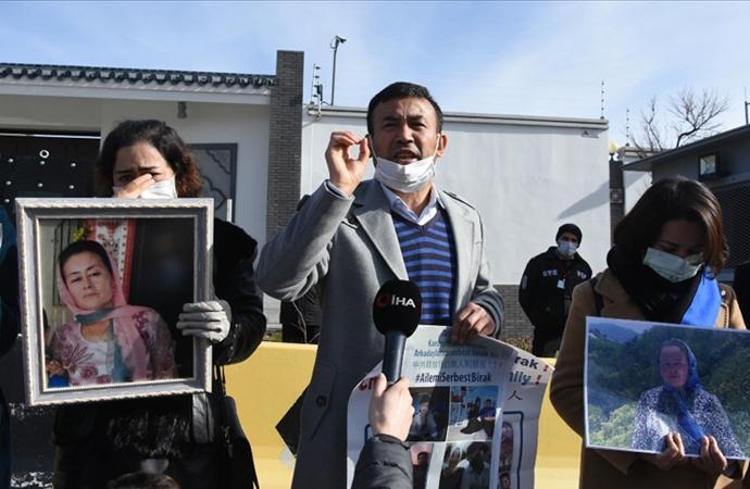 Çin Büyükelçiliği önünde eylem: 'Ya şerefimizle öleceğiz ya da şerefimizle yaşayacağız'