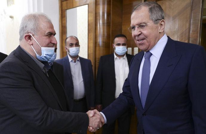 Lavrov, Lübnan'da Hizbullah heyetiyle görüştü