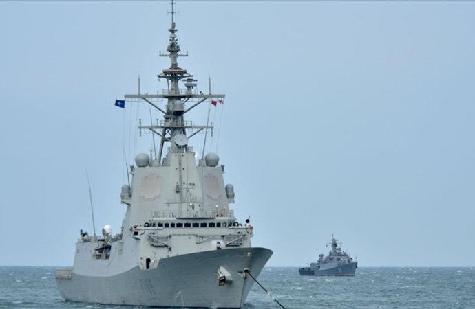 TCG Kemalreis'in de dahil olduğu NATO savaş gemileri Gürcistan'da
