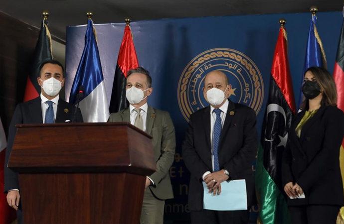 Libya Dışişleri Bakanı, Avrupalı bakanlarla görüştü