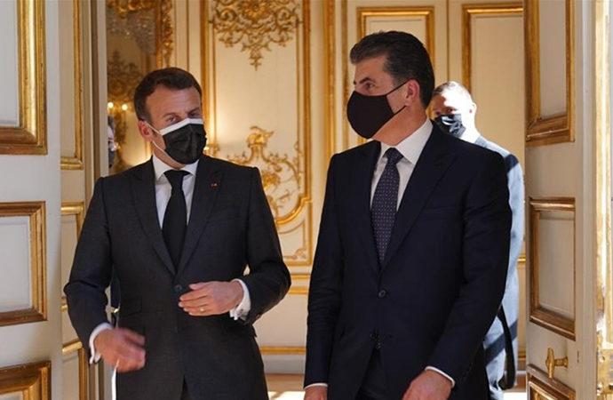 Macron, Paris'te Barzani'yi ağırladı