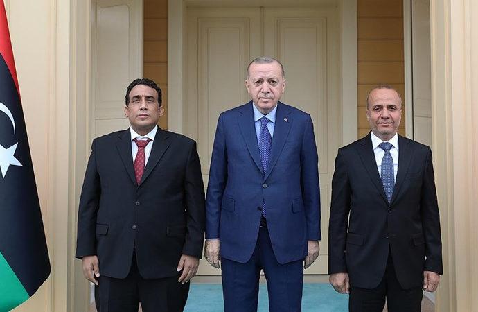 Erdoğan, Libya Başkanlık Konseyi Başkanını kabul etti