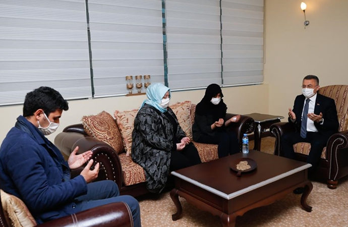 Fuat Oktay'dan Osman Erbaş'ın ailesine taziye