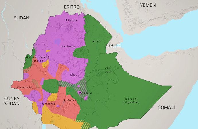 Etiyopya'da etnik ve dini yapı haritası