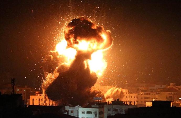İşgalci İsrail savaş uçakları yine Gazze semalarında