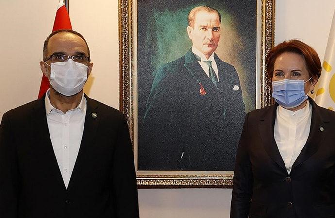 Akşener, Hüda Par Genel Başkanı Sağlam ile görüştü