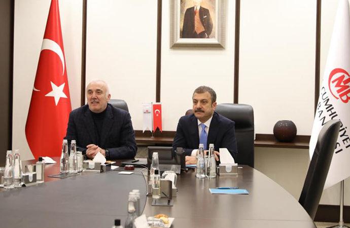 Merkez Bankası yeni başkanı TBB yönetimi ile toplandı