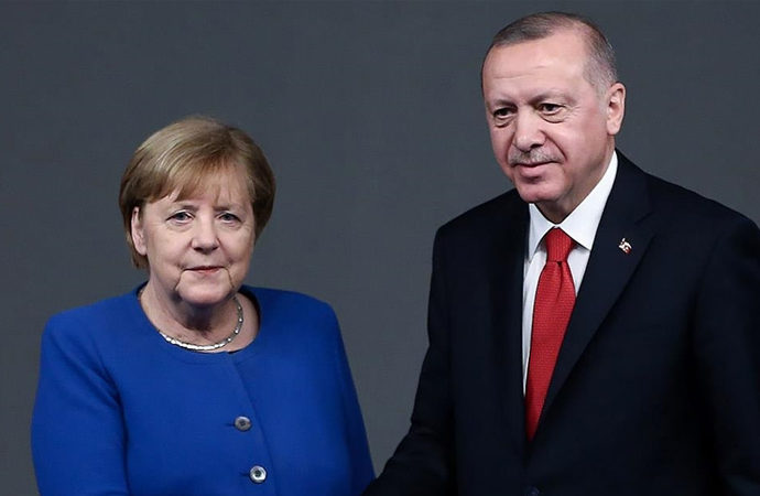 Erdoğan, Merkel ve Draghi ile görüştü