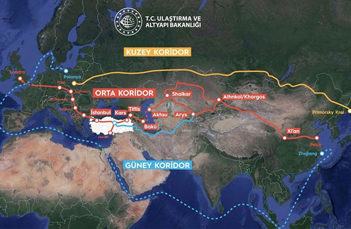 Çin-Londra hattında 'Orta Koridor'