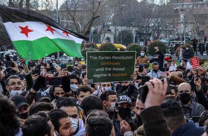 Suriyeli STK'lar İstanbul'da protesto gösterisi düzenledi