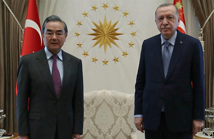 Erdoğan, Çin Dışişleri Bakanı Vang Yi ile görüştü