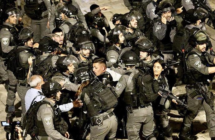 İsrail polisinin Filistinlilere müdahalesi altıncı gününde
