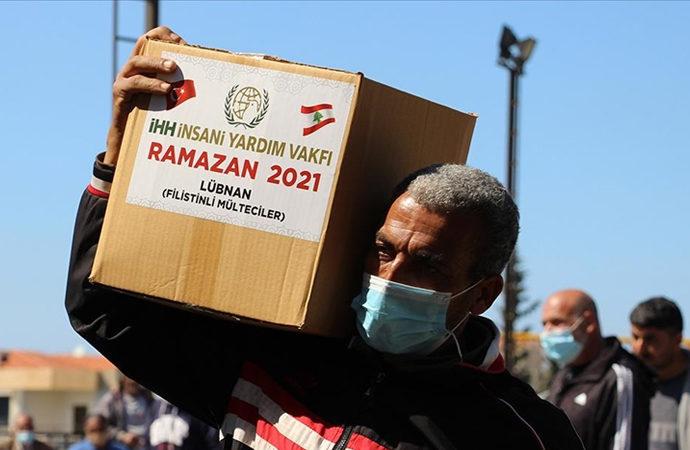 İHH, Lübnan'da 1300 Filistinli aileye gıda yardımı yaptı