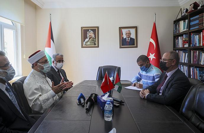 Diyanet'ten Filistin Büyükelçisine ziyaret