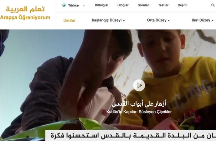 """Al Jazeera'dan """"Arapça öğreniyorum"""" sitesi"""