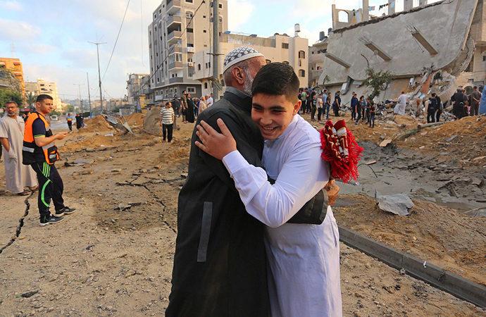 Gazze'de bayram sabahı