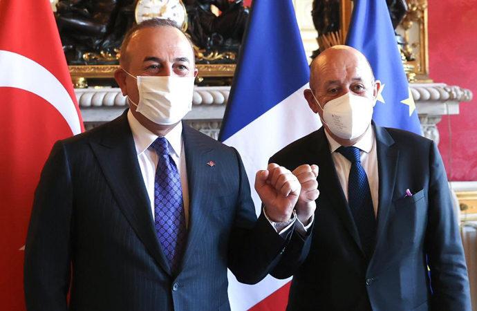 Fransa-Türkiye Dışişleri Bakanları görüşmesi
