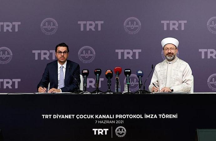TRT ile Diyanet arasında 'Çocuk Kanalı' protokolü