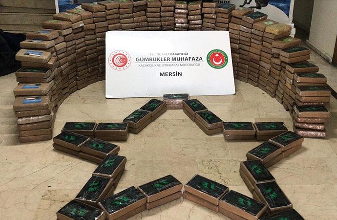 Mersin'de bir haftada 1 ton 763 kg uyuşturucu yakalandı