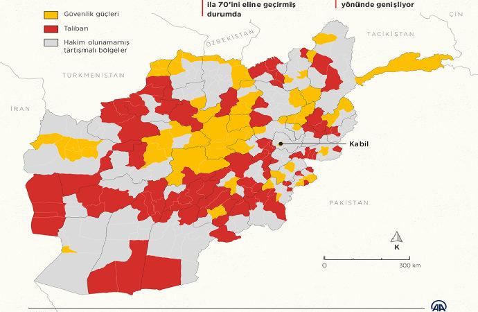 Taliban'ın Afganistan'da alan hakimiyeti artıyor