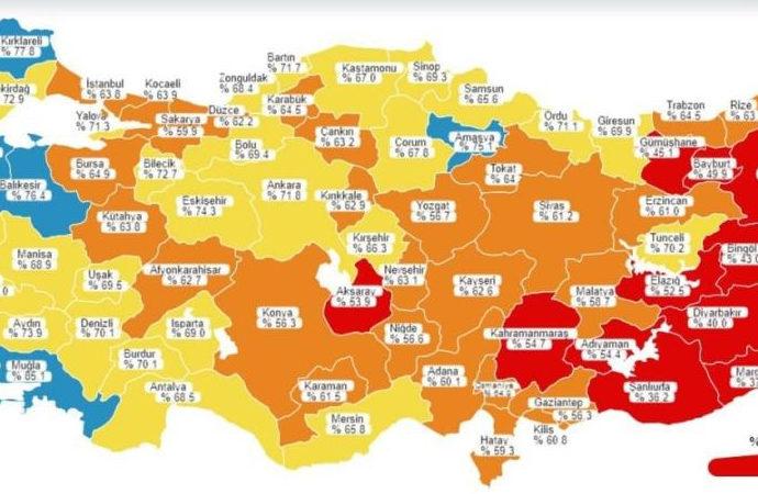Amasya'da aşılama yüzde 75'i geçti