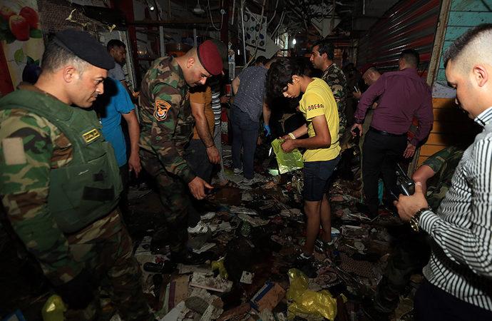 Bağdat'taki halk pazarında patlama