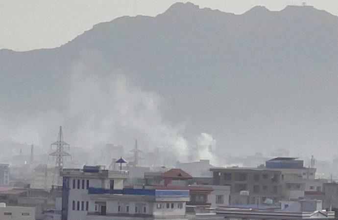 Kabil havalimanı yakınlarına 5 roket düştü