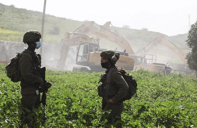 Siyonistler, Filistinlilerin evlerini yıktı