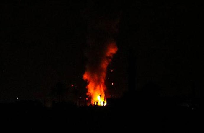Gazze'ye yine saldırdı