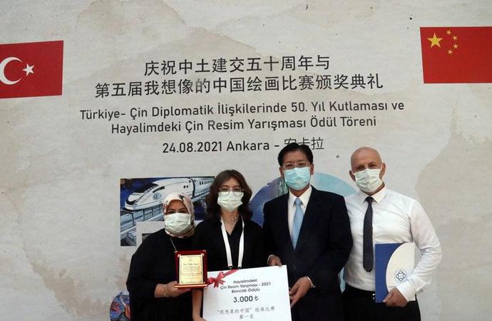 Türk çocuklarının hayalindeki Çin resimlerine Çinlilerden ödül