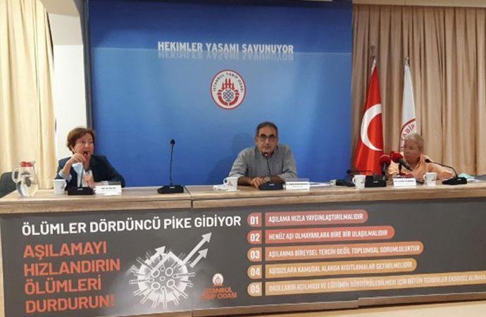 İstanbul Tabip Odası 'aşısızlara kısıtlama' istedi