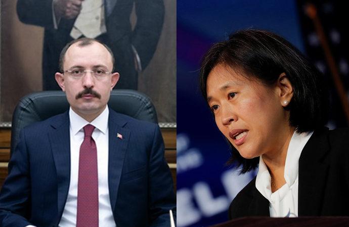 Türk Ticaret Bakanı, ABD Temsilcisi ile görüştü