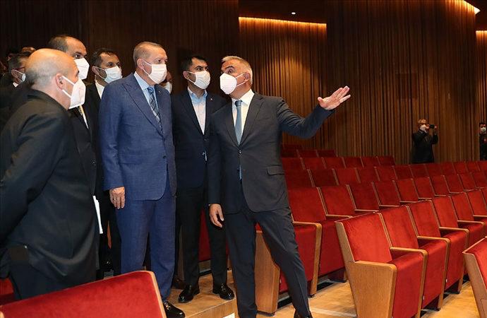 Erdoğan, Atatürk Kültür Merkezi'nde
