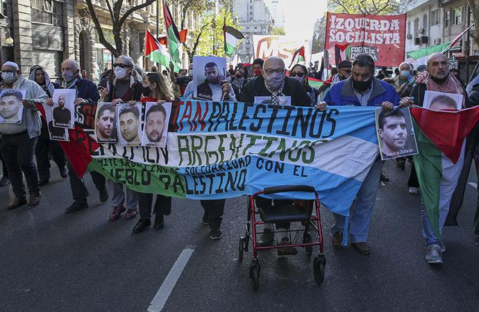 Siyonist düzen Arjantin'de protesto edildi