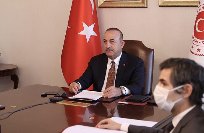 Çavuşoğlu, ABD ve Almanya'nın düzenlediği video konferansta konuştu