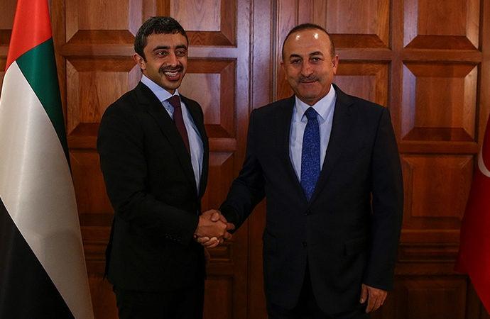 Çavuşoğlu, BAE Dışişleri Bakanı Nahyan'la görüştü