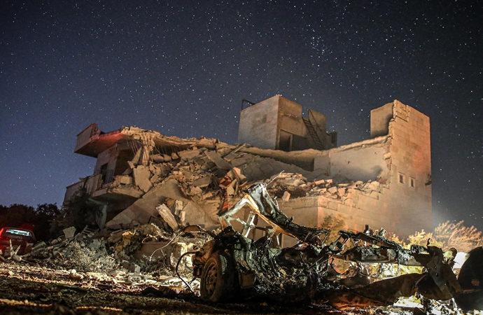 İdlib kent merkezine Esad rejim saldırısı