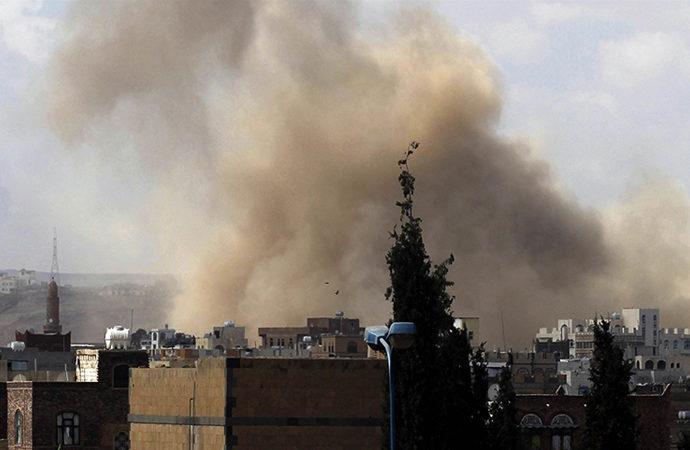 Arap koalisyonundan Marib'e hava saldırısı