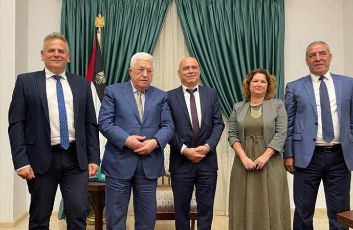 Mahmud Abbas, İsrail heyeti ile görüştü