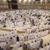 Mescid-i Haram'da omuz omuza saf tutuldu