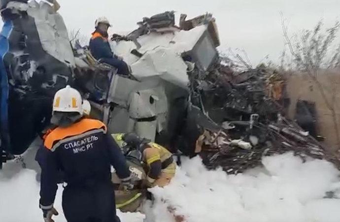 Rusya'ya bağlı Tataristan'da uçak kazası