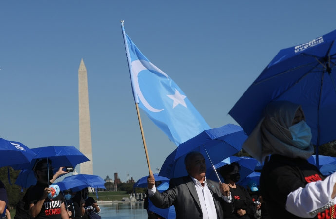 Uygurlardan İngiltere'de, ABD'de, Türkiye'de ve İsviçre'de protesto